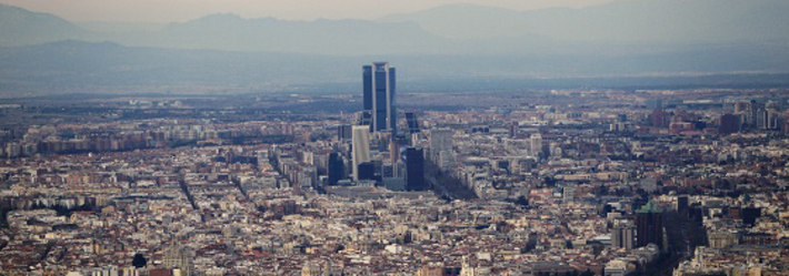 Madrid, aerial photo.